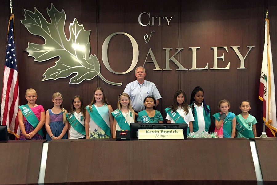 Oakley Self Storage is proud to support the Girl Scouts of America Troop 33390
