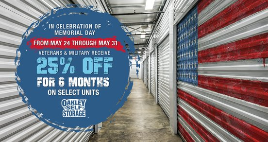 In Honor of Memorial Day Veterans and Military Receive 25% Off 6 Months