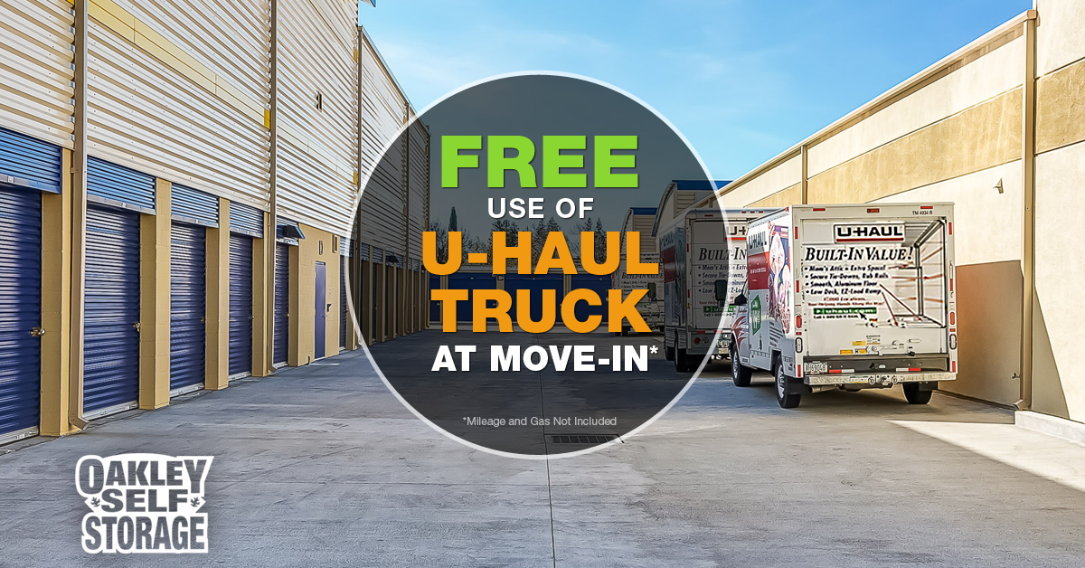 Oakley Self Storage Provides Free U-Haul Truck Rental Upon Move-In