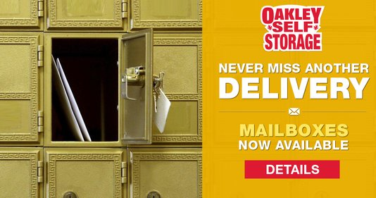 Mailbox Rentals Now Available at Oakley Self Storage!
