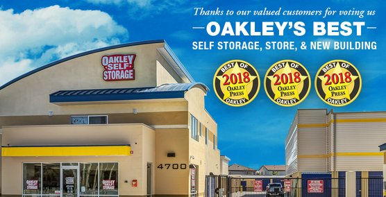 Oakley Self Storage Announces Three Gold Medal Awards for the Oakley Press Reader's Choice Awards 2018