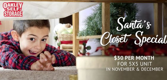 Santa's Closet Holiday Special at Oakley Self Storage