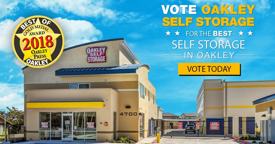 Vote for Oakley Self Storage as the BEST Self Storage in Oakley 2019