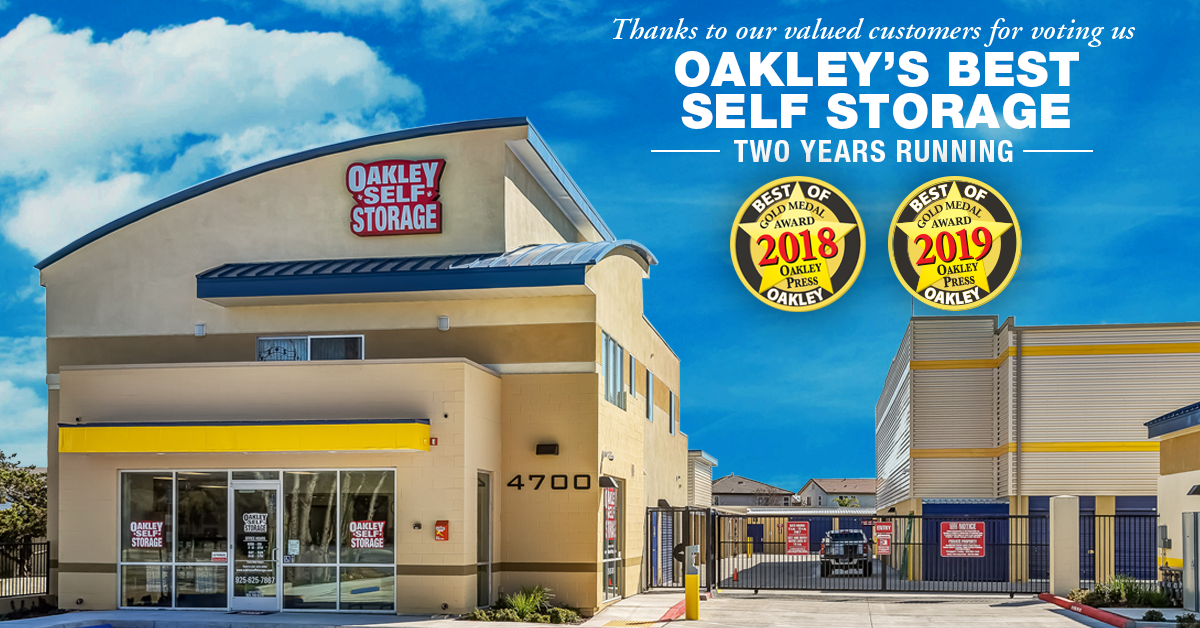 Oakley Self Storage Named Best Self Storage in Oakley for 2019!