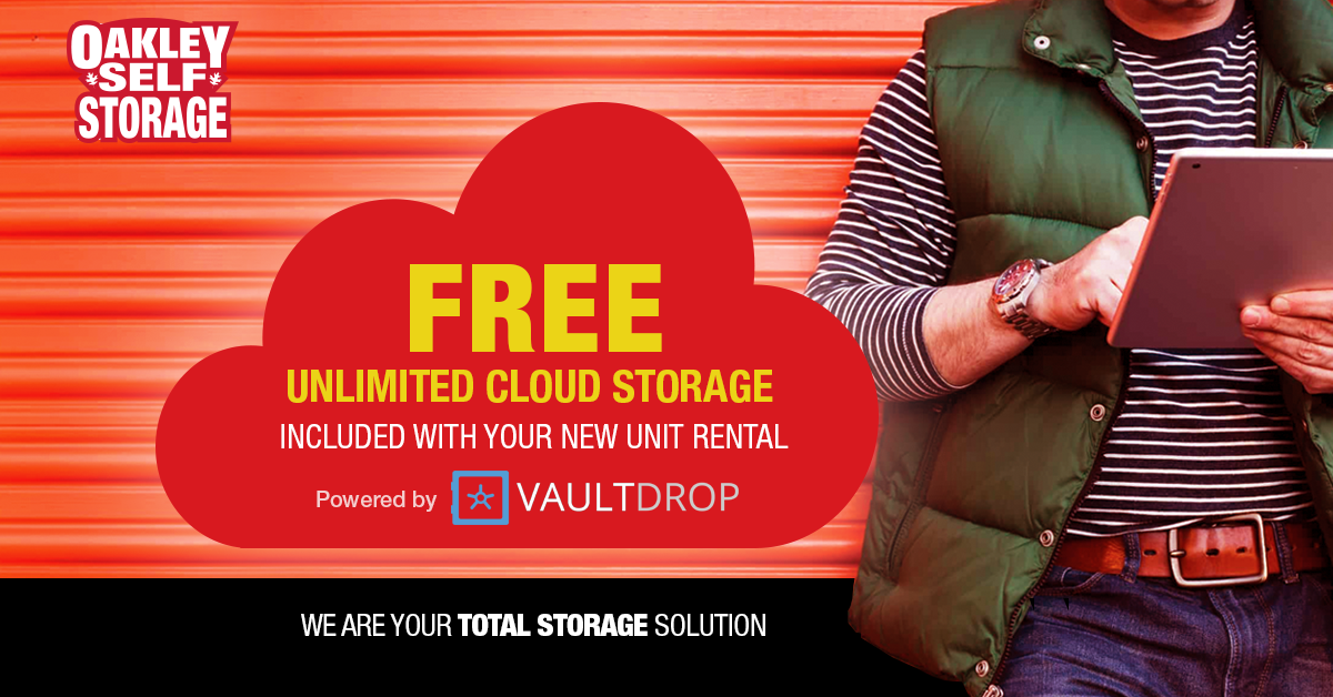 Free Unlimited Cloud Storage with your New Unit Rental