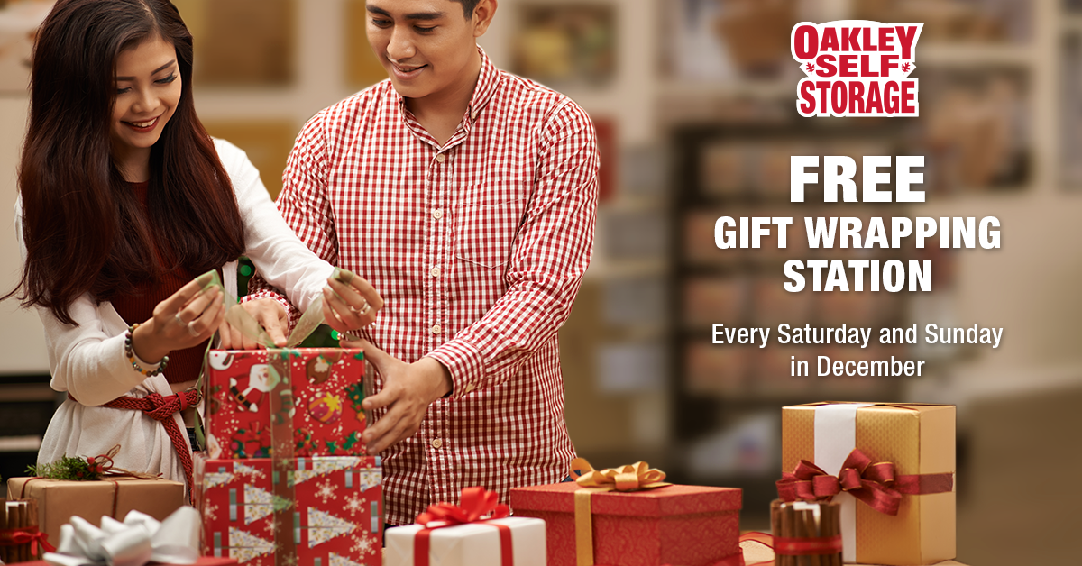 Free Gift Wrapping Station at Oakley Self Storage on Weekends this December