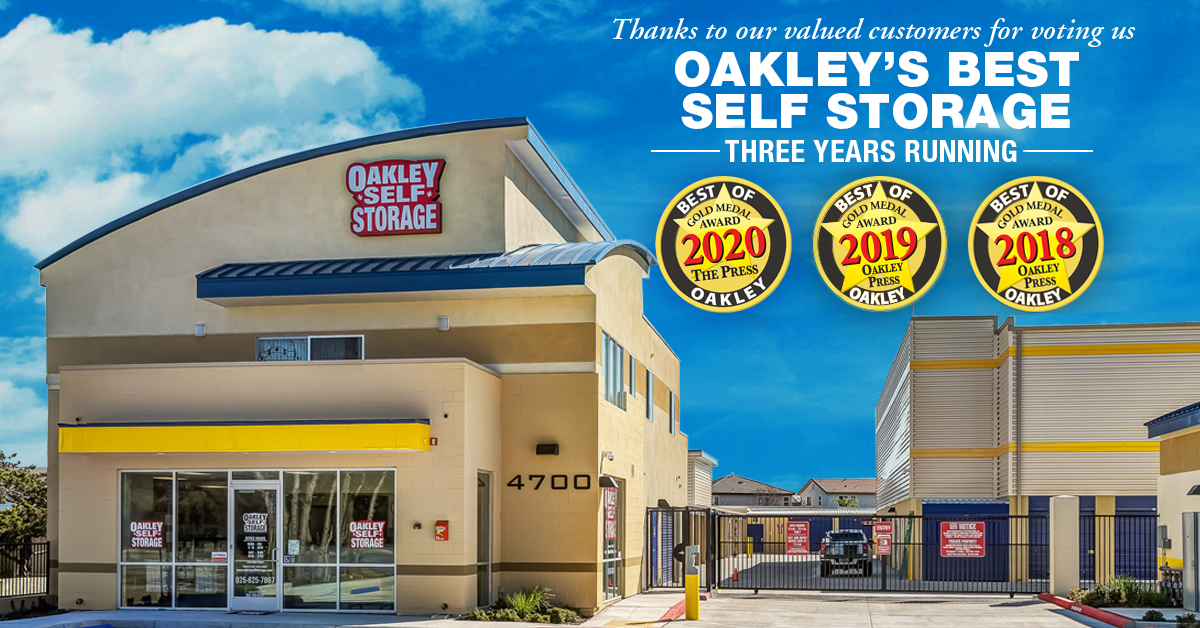 Oakley Self Storage Named Best Self Storage in Oakley for 2020!